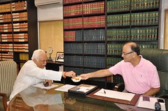 A FRUITFUL VISIT: Finance Minister Arun Jaitley extends the fruit bowl to Karnataka Minister for Large and Medium Industries and Tourism R V Deshpande during their meeting in New Delhi on Saturday (legend_news) Tags: new india tourism fruit during for delhi large saturday meeting bowl visit v r medium their karnataka minister arun newdelhi industries finance deshpande fruitful jaitley extends a