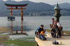 Miyajima groupie (cinusek) Tags: torii miyajima itsukushima shrine japan people selfie group groupie
