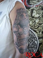 Cultura Azteca 3 (roca tattoo studio) Tags: maya mayan mixteca mexico mexica olmeca precolombino prehispanico prehispanic precolumbian azteca aztec tatuaje tattoo diseño dibujo deidad dios body precolombiono