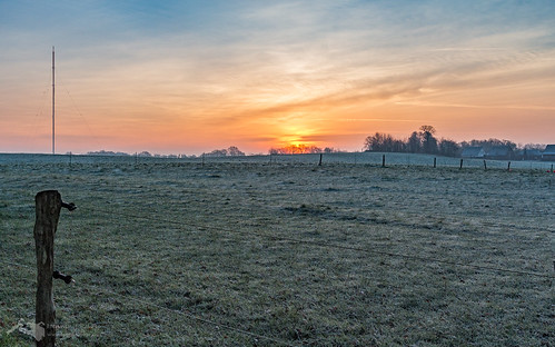 Sonnenaufgang und Sender