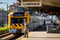 On the platform, Campanha station, Porto (_Geoff R Baker) Tags: portugal porto campanha train rail travel station platform sony nex7 sel1855