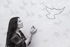 Dreams (ekaterina.tsiruk) Tags: dreams surreal surrealism bw black white birds bird