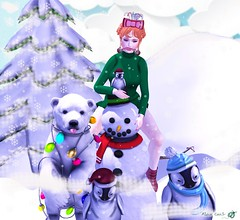- Look 709 - Urso Fofo! (aisha.cahir ✿ {Blogger}) Tags: secondlife free chapterfour due hairfree yuki eyesmesh lx designercircle descontos winter natal snowman pose unholy dress awear boot clockhaus stoking womenonlyhunt hunt kawaii lessucreriesdefairy candycane blackbantam urso bear gacha rare