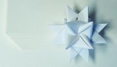 Fröbelstern (G_E_R_D) Tags: macromondays justwhitepaper froebelstar fröbelstern origami christmasdecoration weihnachten