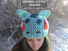 Bulbasaur 01a (zreekee) Tags: pokemon bilbasaur toque sparkledoomdesigns saskatchewan canada crochet handmade