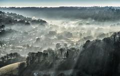 Stroud in the early morning mist (Matt Bigwood) Tags: stroud rodborough common landscape mist gloucestershire nikond800 nikon2485mm winter