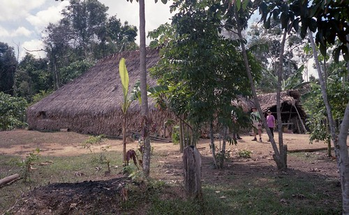 The long hut where the shaman (medicine man) stays