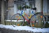 colorful bicycle with snow (blattboldt) Tags: fahrrad bicicletta colorful farbenfroh farben 50mm loxia250 loxia50mmf20 ilce7m2 alpha7m2 sony zeiss jena thuringia germany damenviertel vélo bicicleta bicycle colours winter city stadt street srase 自行車 自転車 馬路 冬天 雪 schnee snow neve neige nieve invierno inverno hiver