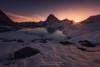 Midi d'Ossau (Guillermo García Delgado) Tags: pirineos pyrenees mountain snow winter lac lake ibon ayous ossau sunshine sunrise sunlight