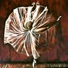 Ballerina III (Gaurang Agarwal) Tags: beautiful project dance newyork kenbowar grunge transparency frill lady female brown painting canvas oilsoncanvas ballerina