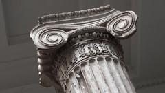 Ionic carved Pentelikon marble column, c405 BCE - east porch, Erechtheum temple, Athens Acropolis. (edk7) Tags: olympuspenliteepl5 edk7 2016 uk england bloomsbury london londonwc1 greatrussellstreet britishmuseum art artwork greece athens acropolis erechtheion erechtheum pentelikonmarble eastporch ioniccapital ioniccolumn c405bce ruin ancient architecture building oldstructure marble sculpture stonecarving flute