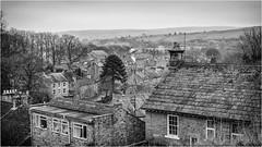 Middleton in Teesdale . (wayman2011) Tags: fujifilmxt10 lightroom wayman2011 bwlandscapes mono rural villages chimneys roofs houses pennines dales teesdale middletoninteesdale countydurham uk