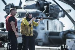 150604-N-IC565-298 (U.S. Pacific Fleet) Tags: navy calif marines arg ussessex westpac westernpacific 15thmeu lhd2 ussessexlhd2 weaponsfamiliarization cpr3 gunnersmate bradleyjgee m50012gaugeshotgun