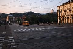 a mattina a Torino (Guido F.J. Ehlers - gfje) Tags: street blackandwhite bw sunrise torino fuji fiume piemonte po fujifilm turin piemont x100 x100s