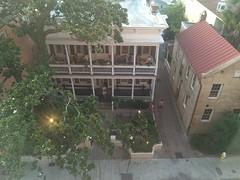 A Charleston Evening (cliffordswoape) Tags: restaurant us cafe unitedstates southcarolina historic patio charleston magnolia husk queenstreet hospitality frozenintime latespringevening