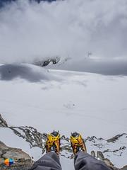 I heart my Scarpa Rebel Ultra GTX! (HendrikMorkel) Tags: mountains alps mountaineering chamonix alpineclimbing arêtedescosmiques arcteryxalpineacademy2015