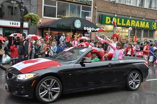 Défilé de la fête du Canada à Montréal