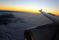 Flying over So Paulo descending into Guarulhos Intl. Airport (GRU) from Curitiba Intl. Airport (CWB) (giovanni.bucaneve) Tags: clouds sunrise airplane fly flying airbus tam a320