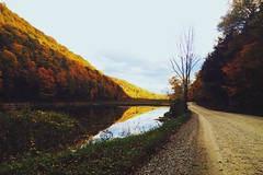 Gravel Road by Scenic Lake (Image Catalog) Tags: road sky mountain lake reflection nature water pond outdoor path hill gravel publicdomain