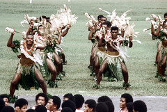 27-477 (ndpa / s. lundeen, archivist) Tags: costumes man color men film field festival fiji 35mm outside outdoors dance costume clothing dancers dancing spears song traditional nick group performance culture makeup dancer skirt suva southpacific warriors tradition 1970s facepaint 27 performers 1972 skirts grassskirt dewolf oceania pacificartsfestival pacificislands youngmen grassskirts festivalofpacificarts southpacificislands nickdewolf photographbynickdewolf festpac pacificislandculture southpacificfestival reel27 southpacificartsfestival southpacificfestivalofarts fiji72