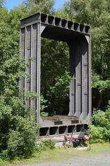 Bent box (beqi) Tags: bridge history bike bicycle wales lightning ironwork menai p38 2015 hpv britanniabridge