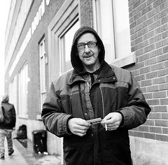 "Christmas Eve 2016: Hamilton, Ontario (Xsbmrnr (Please read profile before ""following"") Tags: blackandwhite bandw blazinal rolleiflex rolleiflex35 rolleiflextlr trix trix400 film hamilton hamiltonontario street streetphotography streetportrait streetpeople streetportraits mediumformat"