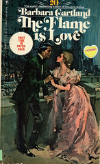 Novel-The-Flame-is-Love-by-Barbara-Cartland (Count_Strad) Tags: novel book pages read reading pulp barbaracartland romance