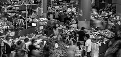 food frenzy (Greg Rohan) Tags: paddysmarkets chinatown blackandwhite d7200 2017 crowd people bw monochrome food shopping markets vegetables