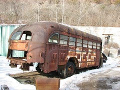 A VERY ROTTEN OLD SCHOOL BUS IN DEC 2016 (richie 59) Tags: ulstercountyny ulstercounty newyorkstate newyork townofulsterny townofulster unitedstates eddyvilleny eddyville winter nystate richie59 america outside weekday wednesday junkyard junkvehicle 2016 bus oldschoolbus oldbus dec2016 dec212016 junked junkschoolbus junkbus 2010s americanschoolbus usschoolbus americanbus usbus 1940sbus backend hudsonvalley midhudsonvalley midhudson nys ny usa us snow trees rust rusty rusted rustedout rustyschoolbus rustybus rotted faded fadedpaint wornout obsolete automobile auto motorvehicle vehicle rotten rustyoldbus