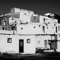 Taos Pueblo No. 1 (Mabry Campbell) Tags: 2016 december h5d50c hasselblad mabrycampbell newmexico santafe taos taospueblo usa unitedstatesofamerica adobe architecture blackandwhite building commercialphotography fineart fineartphotography historic image nativeamerican old photo photograph photographer photography pueblo squarecrop f80 december272016 20161227campbellb0001161 80mm ¹⁄₅₀₀sec 100 hc80 fav10 fav20 fav30 fav40 fav50
