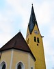 St. Lawrence (ekelly80) Tags: germany bavaria rottachegern tegernsee december2016 church stlawrence catholic steeple tower clocktower yellow architecture windows bell