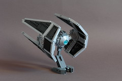 Sienar Tie Interceptor - 3/4 rear (Sydag) Tags: starfighter lego moc space scifi starwars sienar tiefighter