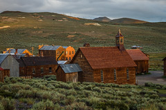 Bodie Church and Dechambeau Hotel (Jeff Sullivan (www.JeffSullivanPhotography.com)) Tags: bodie state historic park american ghost town wild west mining bridgeport eastern sierra california united states usa canon 5d mark iii photo copyright 2015 jeff sullivan july abandoned rural decay mono county photomatixpro