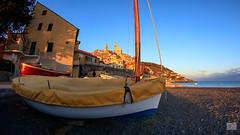 451201701gCERVO-119 (GIALLO1963) Tags: bluehour sunset fisheye architecture sea cervo seaside boat liguria italy 2017 canoneos5ds