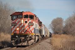 Double BC (Cold Train) Tags: bcol 491 a491 c408m bc rail graffiti