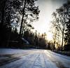 Winter road (Henka69) Tags: landscape landskap hagafors vinter winter sun backlight
