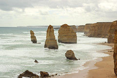 Twelve apostles at Great Ocean Road, Victoria, Australia (Julia_Kul) Tags: coastal coast australia australian stone nobody natural park national travel amazing view rock sand landmark campbell summer port waves sandstone twelve limestone beach blue erosion great beauty sunset melbourne sky scenic cliff tourism sea victoria beautiful background surf water nature coastline apostle stunning road landscape ocean greatoceanroad 12