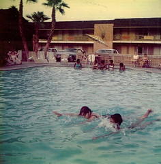 Hotel Swimming Pool (~ Lone Wadi ~) Tags: hotel swimmingpool pool guests lodgers lostphoto candid swimming retro 1970s travel swimmers interracial