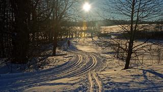 Golden ski running track