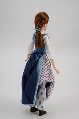 Film Collection Belle and Gaston Doll Set - Live Action Beauty and the Beast - Disney Store Purchase - Deboxing - Belle Deboxed - Free Standing - Full Left Rear View (drj1828) Tags: us disneystore beautyandthebeast liveactionfilm 2017 belle disneyfilmcollection 12inch posable dollset blue peasant dress deboxed freestanding