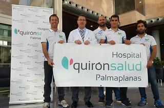 HQPP - 31012017 - Equipo reto vuelta a Mallorca pruebas en Quirónsalud Palmaplanas