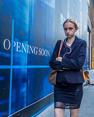 Opening Soon (ViewFromTheStreet) Tags: allrightsreserved bigapple blick blickcalle blickcallevfts calle copyright2017 manhattan nyc newyork newyorkcity openingsoon photography stphotographia streetphotography viewfromthestreet amazing blonde blue candid classic earbuds female ghostly girl jacket purse skirt skirtsuit street suit sullen tightskirt vftsviewfromthestreet woman womanssuit ©blickcallevfts ©copyright2017blickcalle