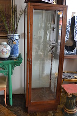 """Tall Mahogany Showcase, Early 20th c. • <a style=""""font-size:0.8em;"""" href=""""http://www.flickr.com/photos/51721355@N02/18465396665/"""" target=""""_blank"""">View on Flickr</a>"""