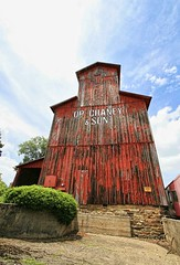 Weathered & Handsome (~ Liberty Images) Tags: ohio red architecture historic americana grainelevator woodenbuilding libertyimages canalwinchesteroh chaneyco