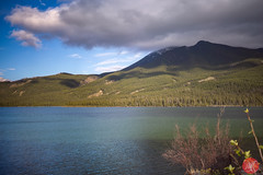 Retreating clouds (Kasia Sokulska (KasiaBasic)) Tags: sunset mountain lake canada mountains clouds landscape rockies nationalpark spring jasper alberta talbot