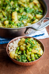 Bowl of potato kale curry (tessascotolson) Tags: curry kale