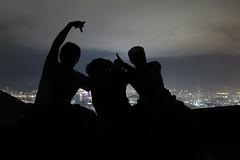 Fei Ngo Shan with friends (leo shy) Tags: friends silhouette night hongkong feingoshan