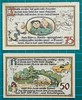 1921-GATERSLEBEN-WARTE-NOTGELD-MAX-AND MORITZ-50-AND-75-PFENNIG-REVERSE-D9 (noteworthycollectibles) Tags: germany paper deutschland mark silk imperial currency banknote notgeld seiden pfennig hyperinflation badische reichsbank emergencymoney darlehnskasse
