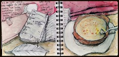 july23_2015_arroz con leche de Sra. Carmen. (Sharon Frost) Tags: paintings drawings asturias oviedo journals ricepudding sharonfrost daybooks