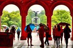 Bethesda Fountain, Central Park NYC (mitzgami) Tags: park nyc newyorkcity travel summer newyork photography nikon flickr centralpark manhattan rainy northamerica bethesdafountain bethesdaterrace natgeo nikonphotography d7000 bethesdaterraceandfountain
